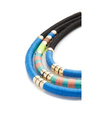 Holst + Lee - Blue Day At The Beach Tri Strand Necklace - Lyst