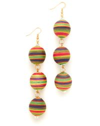 Holst + Lee | Multicolor Sunrise Triple Ball Earrings | Lyst