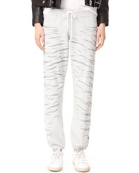 Monrow | Multicolor Vintage Sweats With Faded Tiger Stripes | Lyst