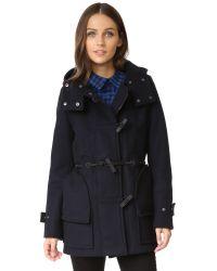Hunter | Blue Women's Original Bonded Wool Duffel Coat | Lyst