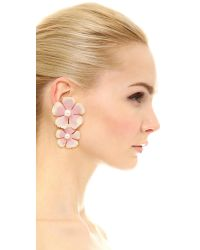 Jennifer Behr - Pink Farrah Earrings - Lyst