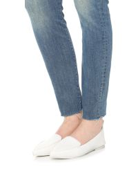 Jeffrey Campbell White Vionnet Loafers