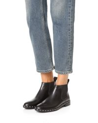 Jenni Kayne - Black Studded Chelsea Booties - Lyst