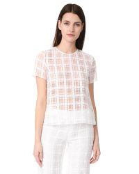Jenni Kayne | White Short Sleeve T-shirt | Lyst