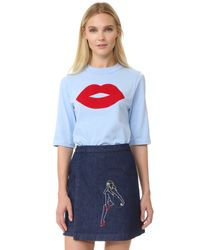 JOUR/NÉ - Blue Lips Jersey Top - Lyst