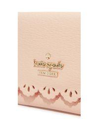 kate spade new york - Pink Darla Wallet - Lyst