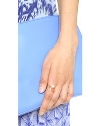 kate spade new york - Metallic Stack Attack Stackable Ring Set - Lyst