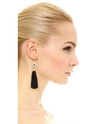 kate spade new york - Black Lovely Lillies Tassel Earrings - Lyst