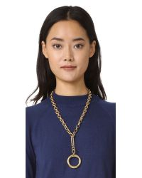 kate spade new york - Metallic Goldie Links Pendant Necklace - Lyst