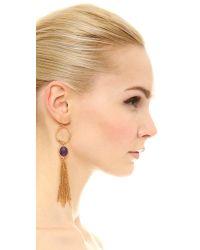 kate spade new york - Metallic Quartz Cascade Statement Linear Earrings - Lyst