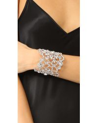 kate spade new york - Multicolor Crystal Lace Cuff Bracelet - Lyst