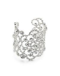 kate spade new york - Multicolor Crystal Lace Cuff Bracelet - Lyst