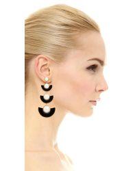 Kate Spade - Black Taking Shapes Statement Earrings - Lyst