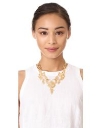 Kate Spade - Metallic 'golden Age' Statement Necklace - Lyst