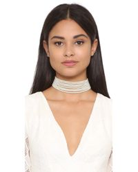 Kenneth Jay Lane | White Layered Choker Necklace | Lyst