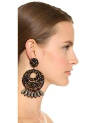 Kenneth Jay Lane - Metallic Multi Hoop Earrings - Lyst