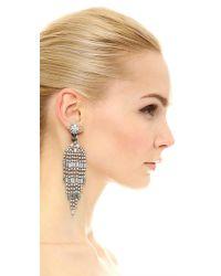 Kenneth Jay Lane | Metallic 9 Row Baguette Waterfall Earrings | Lyst
