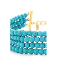 Kenneth Jay Lane | Blue Bead Dog Collar Necklace | Lyst