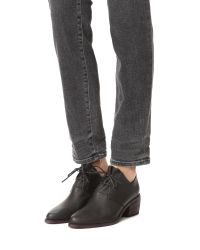 LD Tuttle - Black The Vault Leather Oxford Booties - Lyst