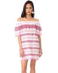 Lemlem | Pink Tabtab Off Shoulder Dress | Lyst