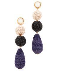 Lizzie Fortunato | Multicolor Siesta Mother-of-pearl & Crochet Drop Earrings | Lyst