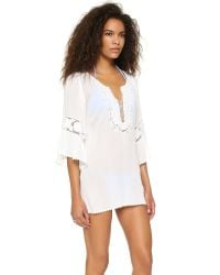 L*Space - White Chase The Sun Breakaway Cover Up - Lyst