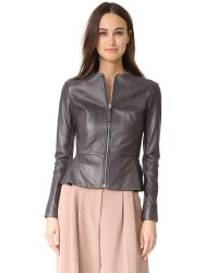 Mackage | Gray Lacy Lux Leather Jacket | Lyst