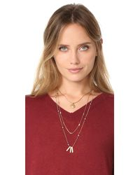 Madewell | Metallic Layered Triangle & Bead Necklace Set | Lyst