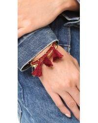 Madewell - Multicolor Cord & Tassel Cuff Bracelet - Lyst