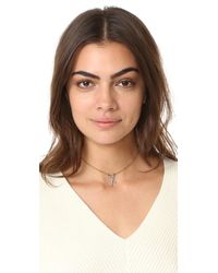 Madewell - Blue X Pave Necklace - Lyst
