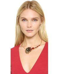 Marni - Metallic Strass Necklace - Lyst