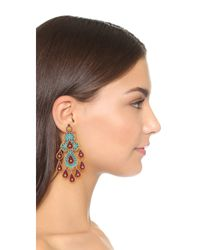 Miguel Ases - Multicolor Beatrice Earrings - Lyst