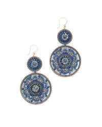 Miguel Ases | Blue Leslie Earrings | Lyst