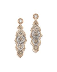 Miguel Ases - Metallic Adele Earrings - Lyst