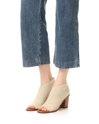 Matt Bernson - Natural Jette Open Toe Booties - Lyst