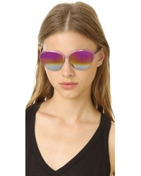 Matthew Williamson - Pink Cat Eye Mirrored Sunglasses - Lyst