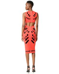 McQ - Multicolor Cutout Body Con Dress - Lyst