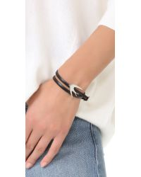 McQ - Black Swallow Mini Wrap Bracelet - Lyst