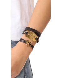 McQ - Black Razor Triple Wrap Bracelet - Lyst