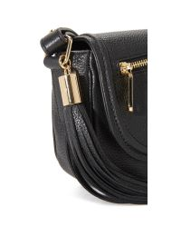 MILLY - Black Astor Mini Saddle Bag - Lyst