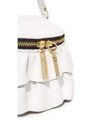 MILLY | White Astor Ruffle Small Top Zip Cross Body Bag | Lyst