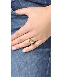 Marc Jacobs - Metallic Hand Ring - Lyst