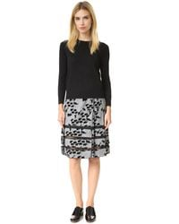 Marc Jacobs | Black Embroidered Classic Crew Sweater | Lyst