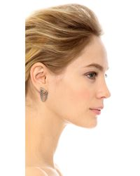 Marc Jacobs - Metallic Safety Pin Layered Chain Stud Earrings - Lyst