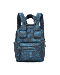 Marc Jacobs | Blue Camo Nylon Knot Backpack | Lyst