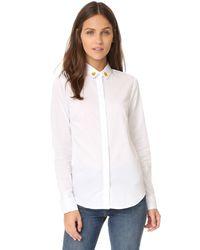 Maison Labiche - White Emoji Shirt - Lyst
