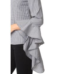 MLM Label - Gray Gingham Essential Top - Lyst