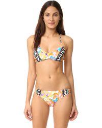 Nanette Lepore | Multicolor Copa Cubana Heartbreaker Bikini Top | Lyst