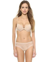 Natori | Brown Pure Luxe Custom Coverage Contour Underwire Bra | Lyst