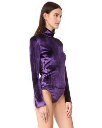 Nina Ricci - Purple Long Sleeve Bodysuit - Lyst